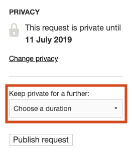 Extending a privacy period